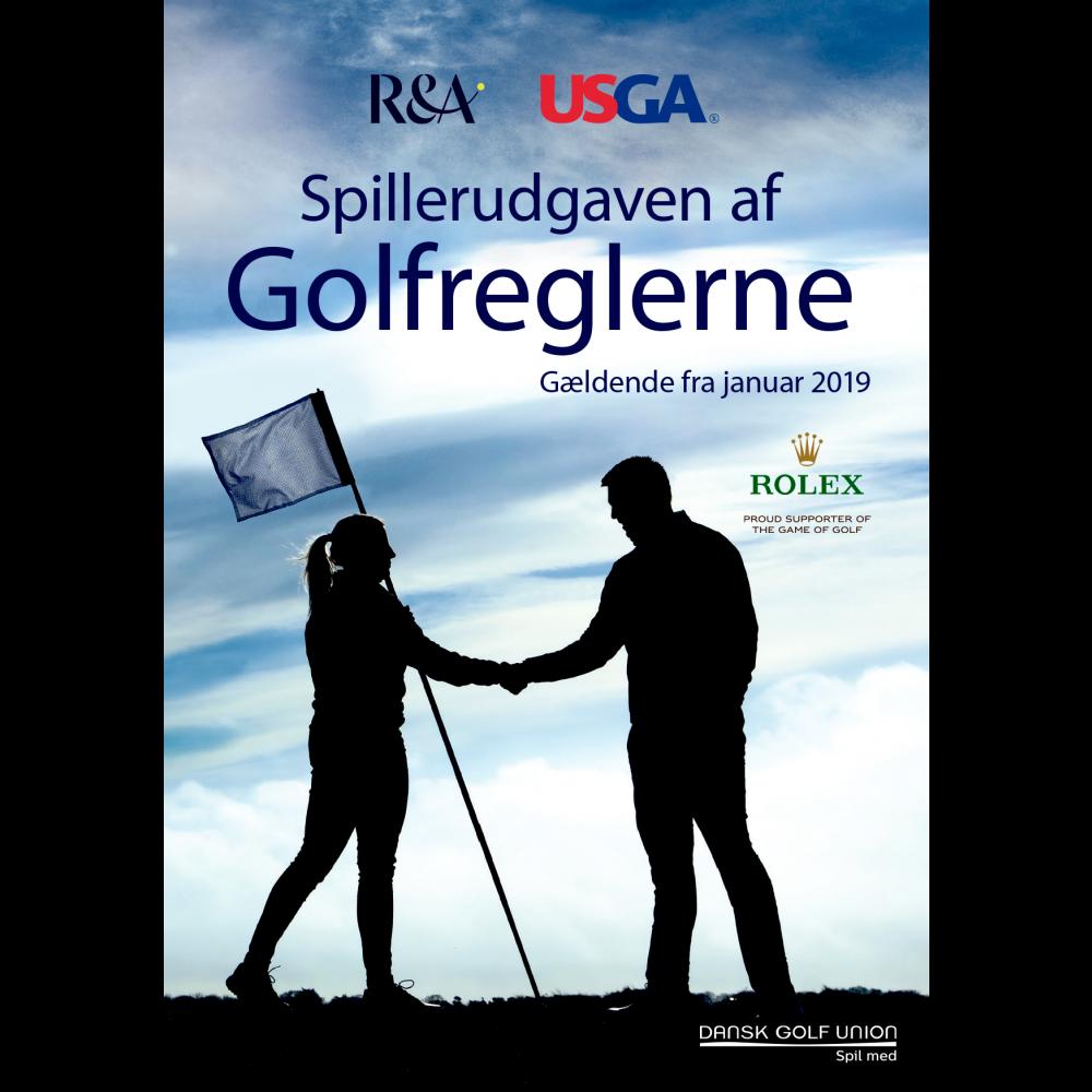Golfreglerne 2019 - Spillerudgaven på dansk, 160 sider, A6-format. Kasser á 25 stk.