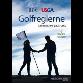 Golfreglerne 2019 på dansk. Komplette regler, 240 sider, A5-format. Pr. stk.