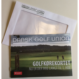 Golfkørekortet. Kuvert m/ 25 stk.